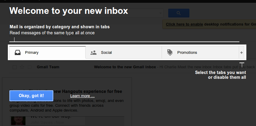 Gmail Inbox Update